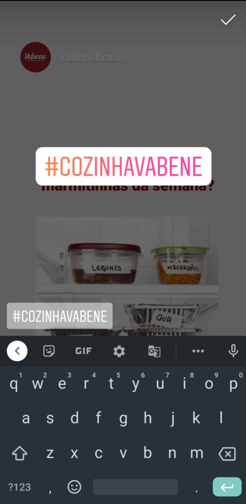 funcionalidades dos Stories do Instagram - hashtags