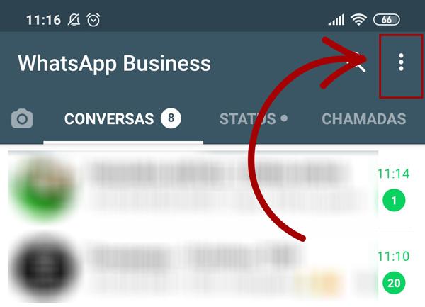 configurações do whatsapp business