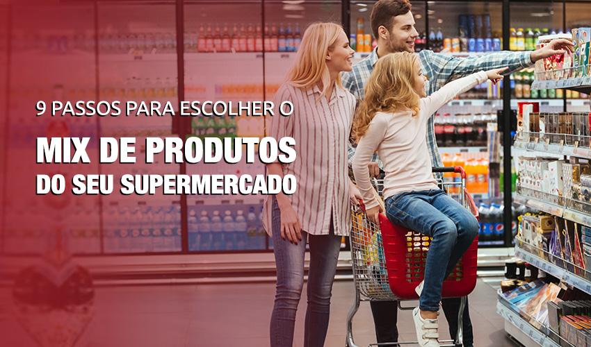 escolher o mix de produtos ideal para um supermercado