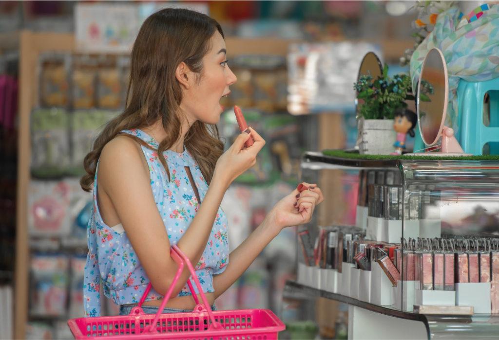 Distribuidor de beleza maquiagem